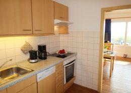 Küche im Appartementhaus