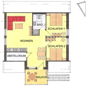 Grundriss Ferienwohnung Backhaus
