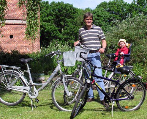 hauseigener Fahrradverleih