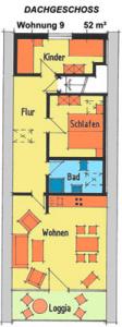 Grundriss Kleines Haus FeWo 9