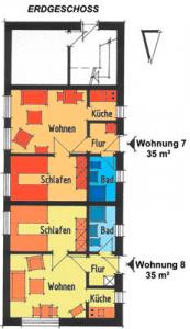 Grundriss Kleines Haus FeWo 7 & 8